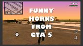 Funny Horns From GTA5 | Clacson MOD for Android