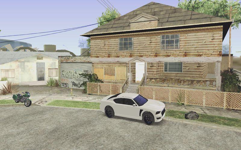 GTA San Andreas GTA V Franklin's Vehicles Outside CJ's Home
