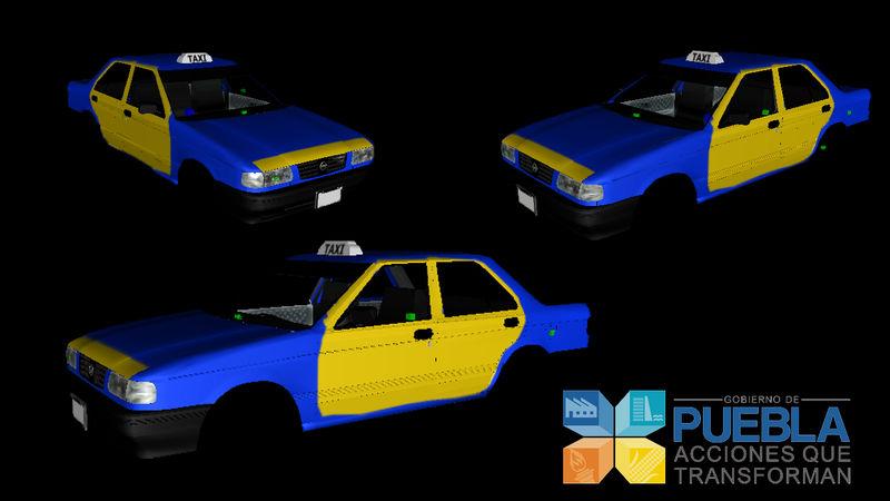 GTA San Andreas Taxi Nissan Tsuru V1 Mod - GTAinside com