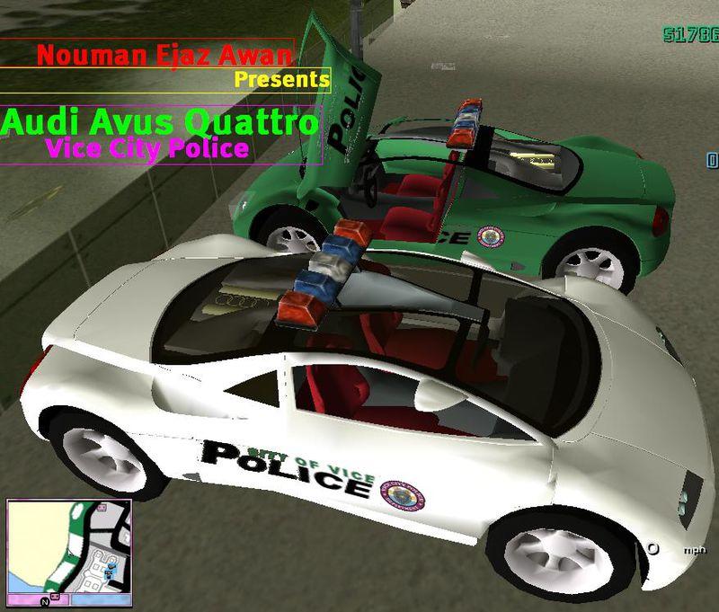 GTA 3 Audi Avus Quattro VCPD Police Mod