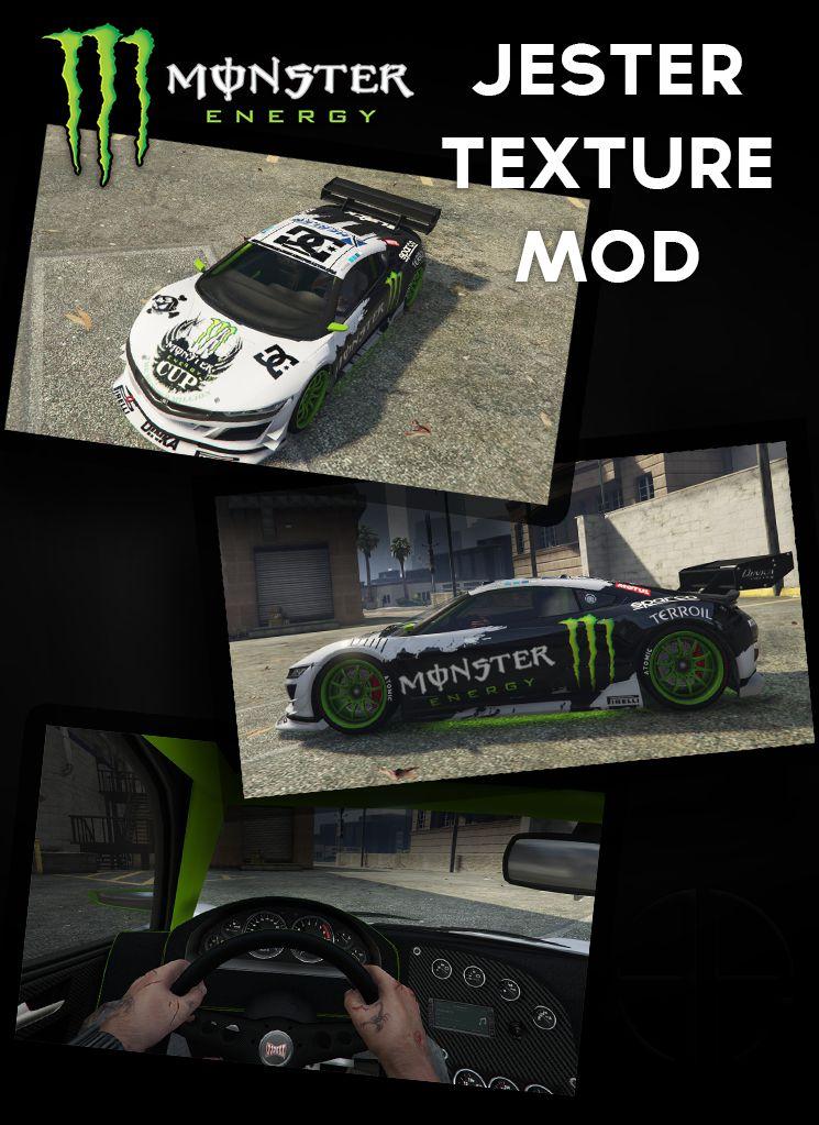gta 5 monster energy jester texture interior mod. Black Bedroom Furniture Sets. Home Design Ideas
