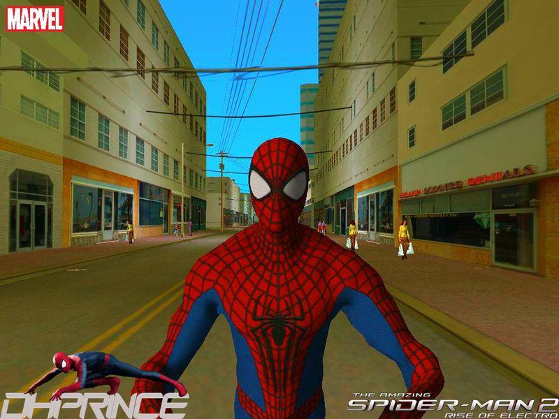 GTA Vice City The Amazing Spiderman 2 Skin Mod - GTAinside com
