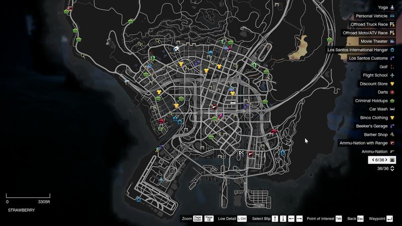 Gta 5 Colored Map Blips Mod Gtainside Com