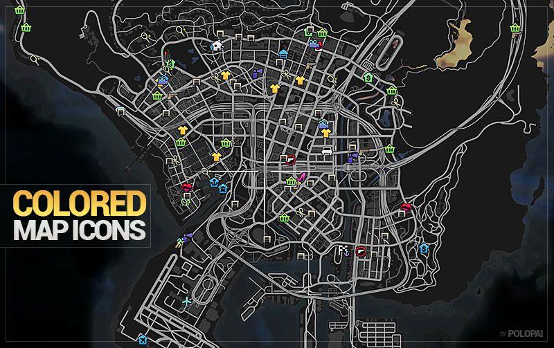Gta 5 Colored Map Blips Mod Gtainside Com