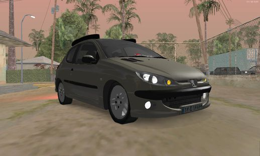 Peugeot 106 Tuning For Gta San Andreas Rear Left View