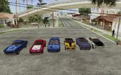 GTA V Cars ADDED [not replaced] For SA V1