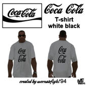 Coca Cola T-shirt White Black