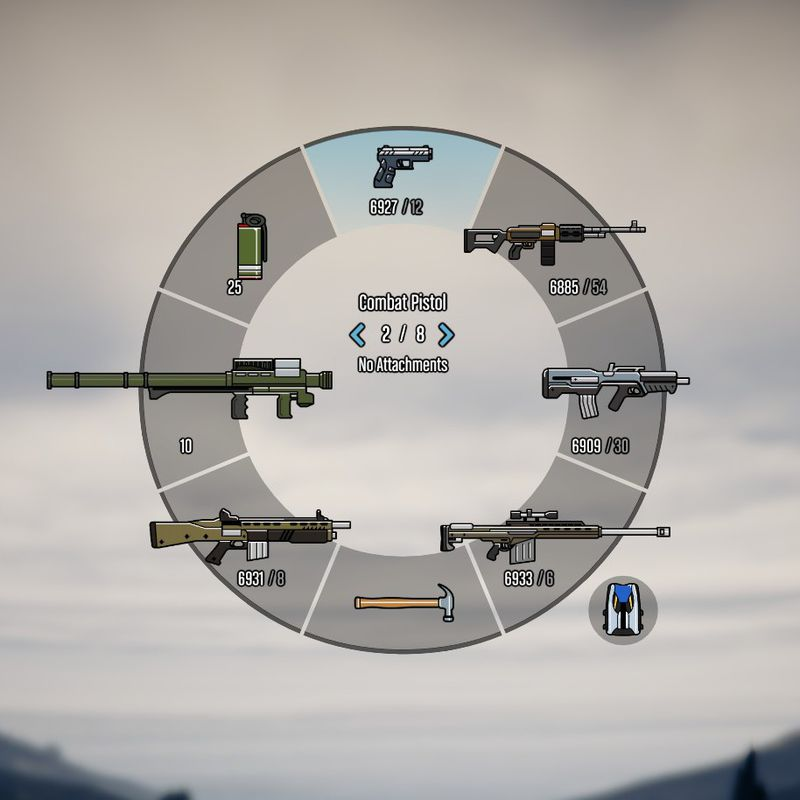 Colored Weapon Icons HD Mod