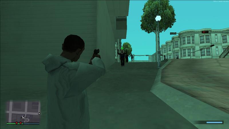 Gta San Andreas Gta V Style Aiming Without Bugs Mod Gtainside Com