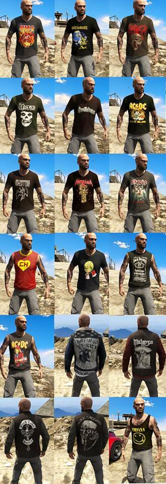 Trevor Rock Pack Shirts [xbox]