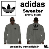 Adidas Sweater Gray Black