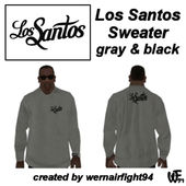 Los Santos Sweater Gray Black