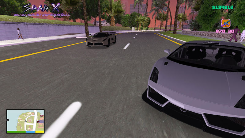 GTA Vice City Realistic Road, Pavement & Trees HQ HD Mod - GTAinside com