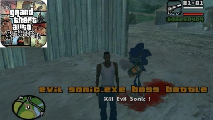 GTA San Andreas Evil Sonic EXE Boss Battle Mission - v1 00 Mod