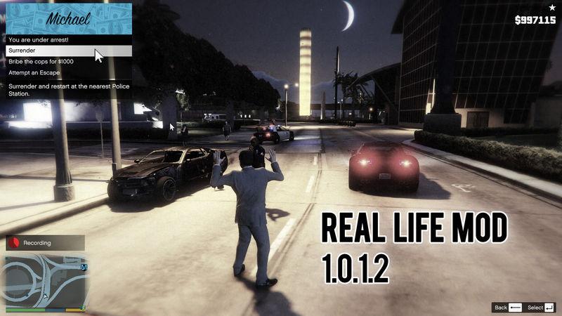GTA 5 Real Life Mod 1 0 1 2 Mod - GTAinside com