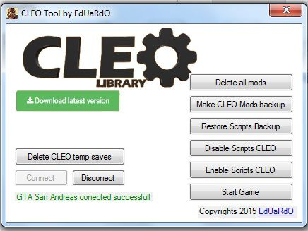 CLEO Scripts Manages Tool V1.0
