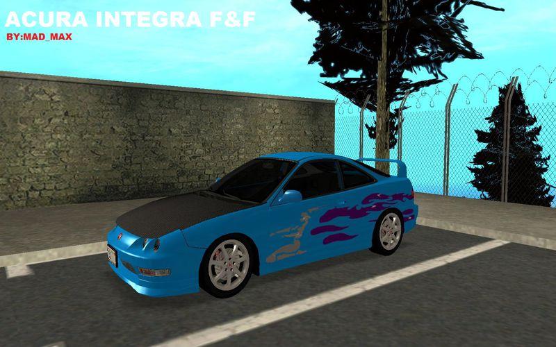 GTA San Andreas Acura Integra Fast And Furious Mod - GTAinside.com