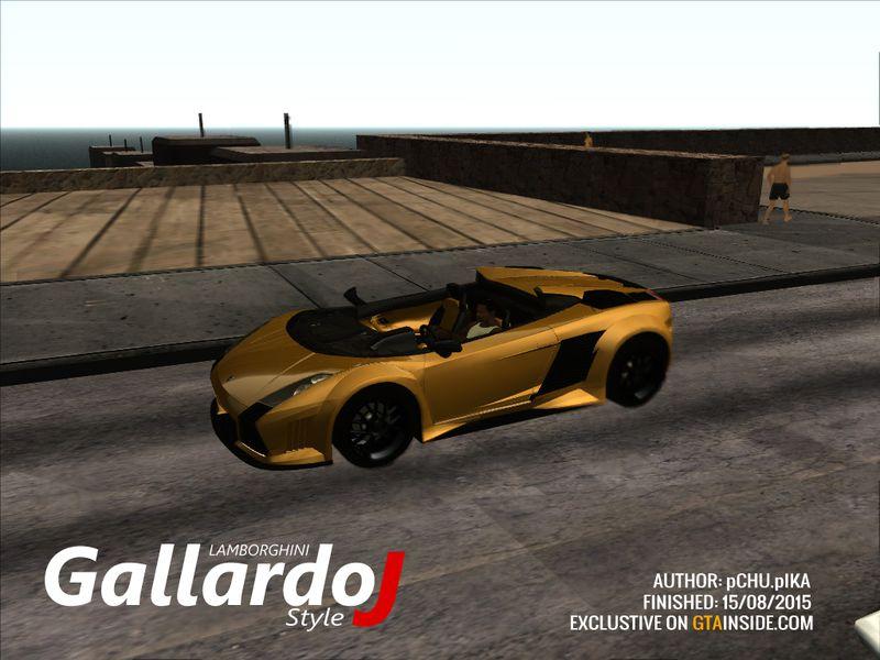 Gta San Andreas Lamborghini Gallardo J Style Mod Gtainside Com