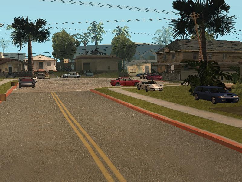 Gta San Andreas Sports Cars In Grove Street V1 1 Mod Gtainside Com