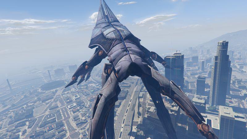 Mass Effect 3 Vehicles: GTA 5 Mass Effect 3 Reaper Ship As Blimp Mod