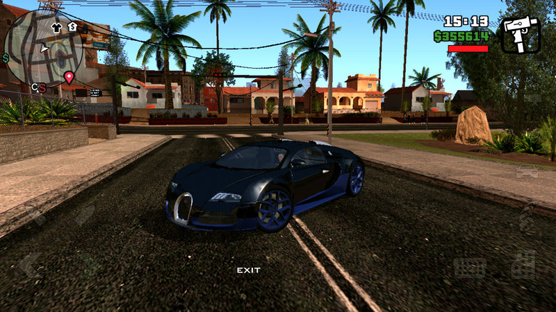 gta san andreas bugatti veyron for gta sa mobile mod. Black Bedroom Furniture Sets. Home Design Ideas