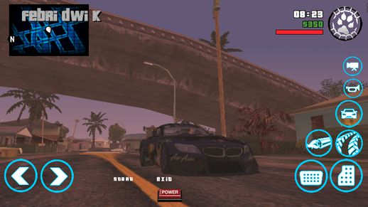 New Button For GTA SA Mobile Blue Colors v1