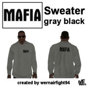 Mafia Sweater Gray Black