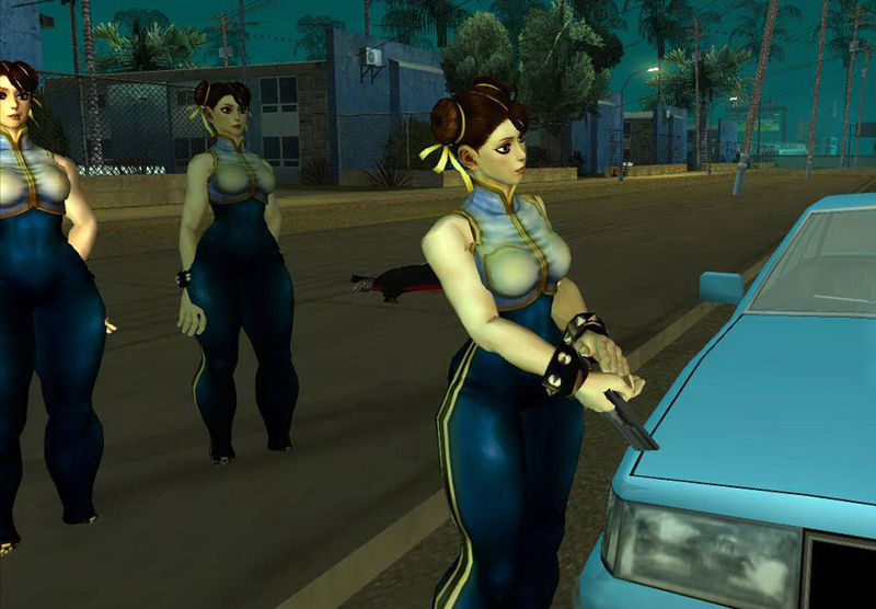 Gta San Andreas Chun Li Street Fighter4 Mod Gtainside Com