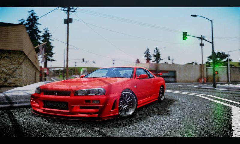 Gta San Andreas 2002 Nissan Skyline Gt R 34 Fast And Furious 4 Mod