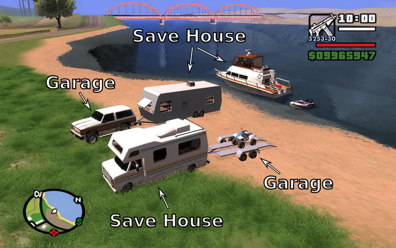 gta san andreas camping mobile save house 2 0a and trailer attach rh gtainside com