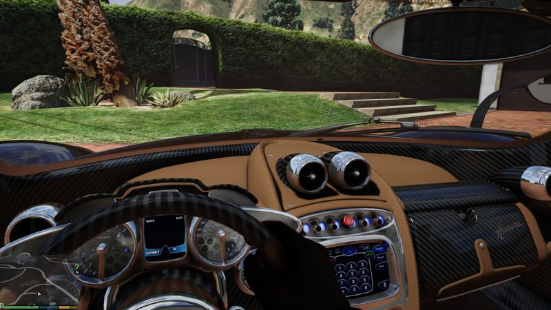 gta 5 pagani huayra brown interior mod. Black Bedroom Furniture Sets. Home Design Ideas