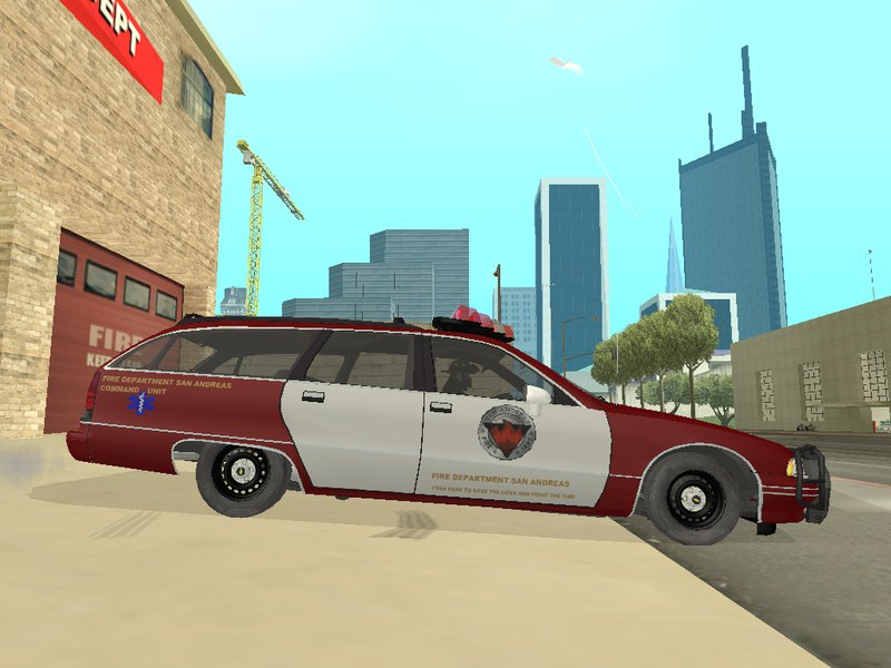 san andreas fire department mod v1.0