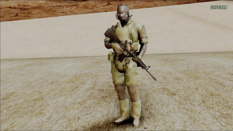 Gta San Andreas Mgsv Ground Zero Msf Soldier Mod Gtainsidecom