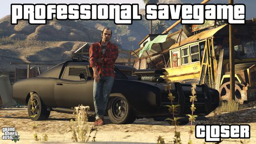 Grand Theft Auto V Professional Savegame %100