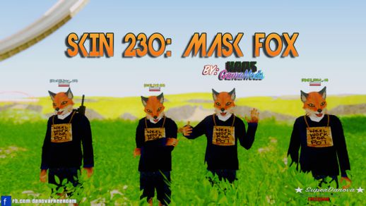 Skin 230: Mask Fox SA-MP