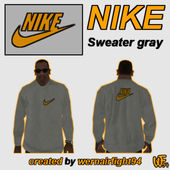 Nike Sweater Gray Orange