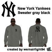 New York Yankees Sweater Gray Black