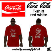 Coca Cola T-shirt Red White