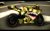 Bati Motorcycle Camo Shark Mouth Edition