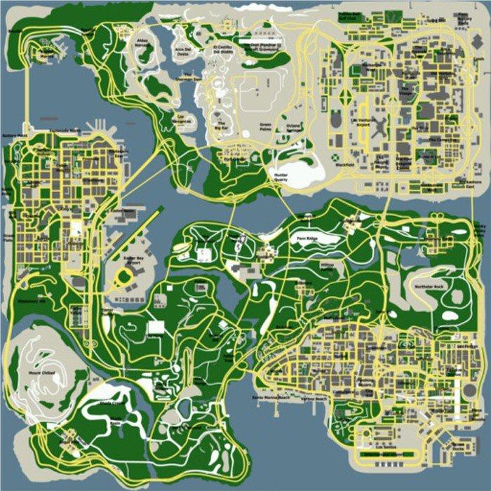 Карта гта сан андреас с картинками