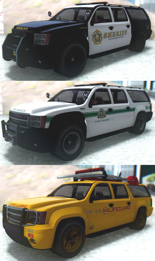 GTA San Andreas GTA V Declasse Granger Emergency PACK Mod