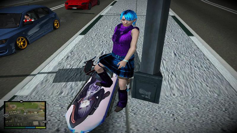 gta sa mod anime car