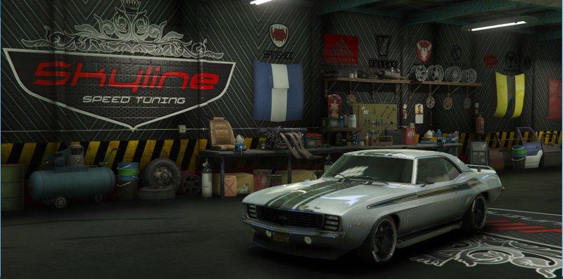 Gta 5 skyline speed tuning garage mod for Garage tuning marseille