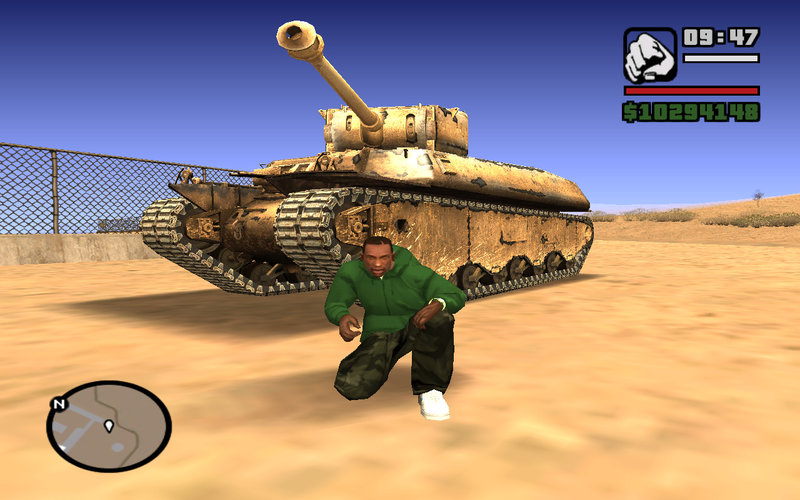 GTA San Andreas Heavy Tank M6 form WoT Mod - GTAinside.com