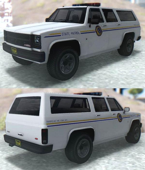 GTA San Andreas GTA V Declasse Rancher XL Police Mod