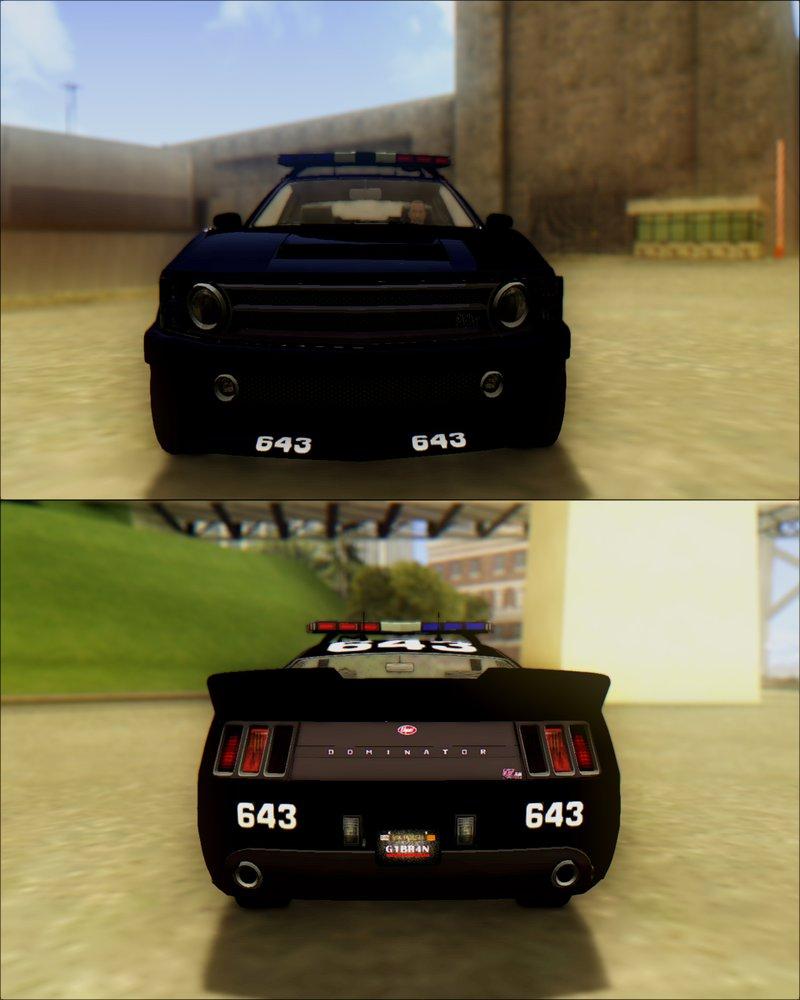 GTA San Andreas Vapid Dominator Transformers Police Car