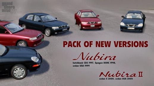Pack of NEW versions for Daewoo Nubira I and II