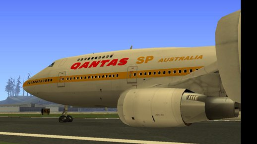 Boeing 747sp Qantas Gold