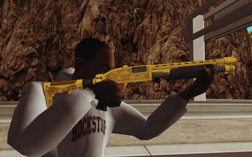 GTA V Pump Shotgun (Luxury Camo from Lowrider DLC)