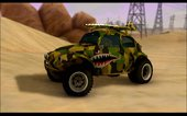 VW Baja Buggy Camo Shark Mouth